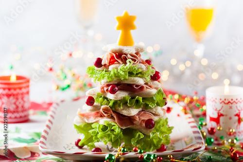 Fototapeta Christmas tree appetizer