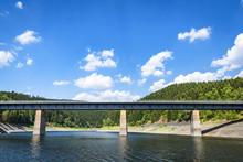 Large Bridge Over A Lake Near ...