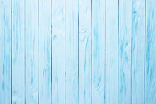 Blue Aged Wooden Table, Painte...