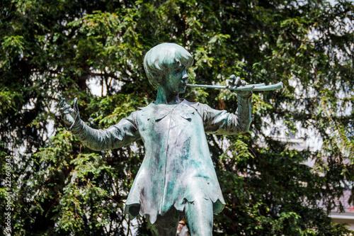 Peter Pan Statue in Egmont Park (Parc d'Egmont) Brussels Wallpaper Mural