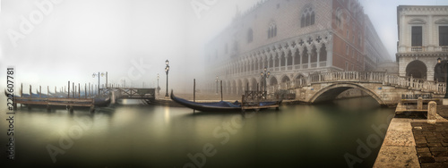 obraz dibond Gondeln im Nebel