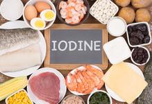 Food Rich In Iodine. Various N...