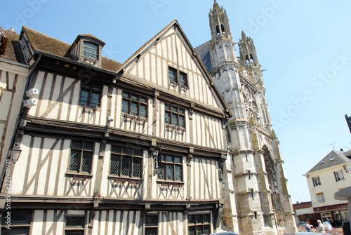 Vászonkép Ville de Vernon, Maison du Temps Jadis, demeure à pans de bois (XVe siècle), auj