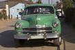 Wunderschöner grüner Oldtimer auf Kuba (Karibik)