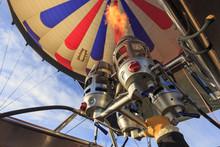 Hot Air Balloon Burner In Oper...
