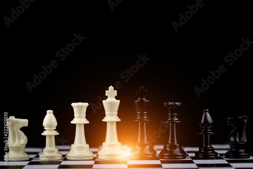 Fotografie, Obraz  Chess board game Strategy,Planning and Decision concept,business solutions for success