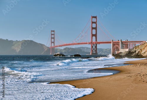 Foto op Plexiglas Amerikaanse Plekken Golden Gate Bridge, San Francisco, California