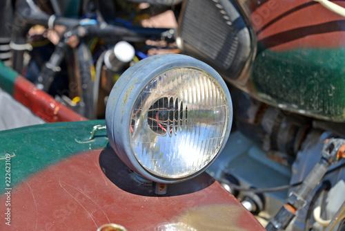 Fototapeta particolari di una vecchia motocicletta obraz na płótnie