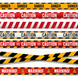 Police line Caution lines. Warning tapes