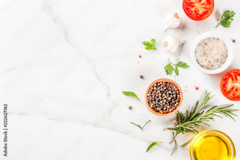 Fototapety, obrazy: Cooking herbs and spices background
