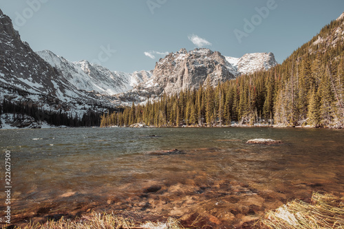 Keuken foto achterwand Verenigde Staten The Loch Lake, Rocky Mountains, Colorado, USA.