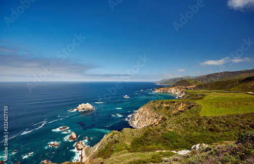 Foto op Canvas Verenigde Staten Pacific coast landscape in California