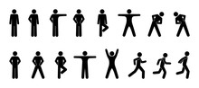 Stick Figure, Set Of Icons Peo...