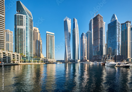 Tuinposter Dubai Dubai marina skyline in United Arab Emirates
