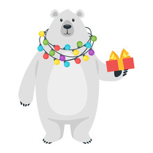 Cartoon White Polar Bear