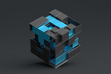Abstract 3d rendering of ge...