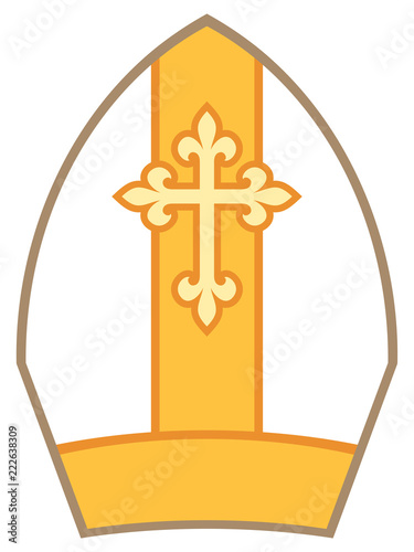 Photo Bishop Mitre (Miter) vector illustration