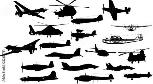 Fotografie, Obraz  戦闘機のシルエット