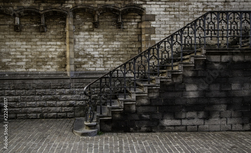 Old stone staircase