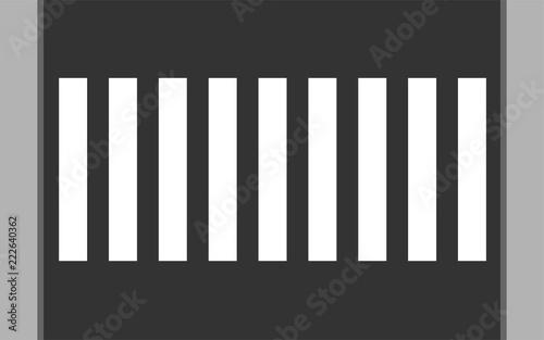 Crosswalk flat vector illustration Fototapete