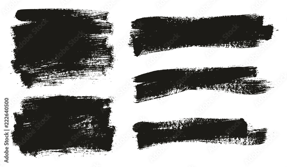 Fototapety, obrazy: Paint Brush Background High Detail Abstract Vector Background Set 50