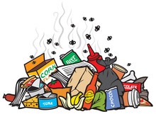 Pile Of Garbage Vector Illustration