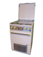 White Old Vintage Retro Kitchen Gas Stove Isolated On White Background