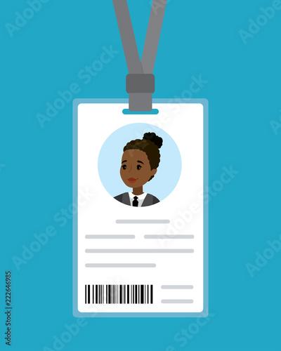 Obraz na płótnie Cartoon badge of the african american woman,
