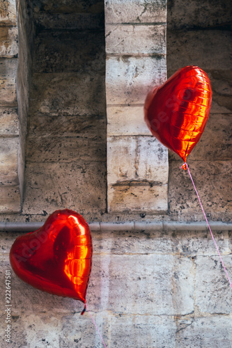 Fotografie, Obraz  Heart shaped colorful decorative objects