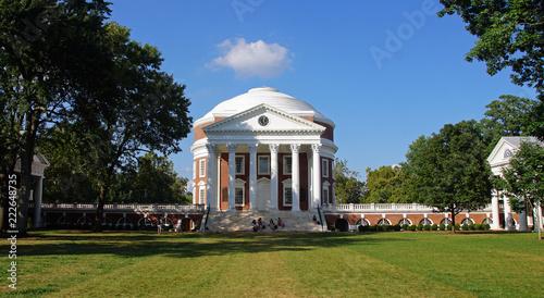 Fotografie, Obraz Unversität Charlottesville Rotunda