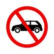 znak zakazu dla samochodów