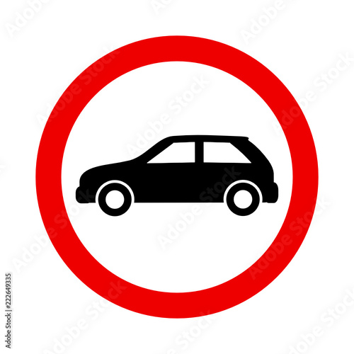 Fototapeta znak zakazu dla samochodów obraz