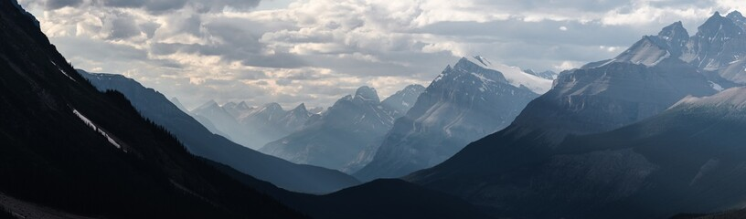 Dramatic landscape along the Icefields Parkway, Canada