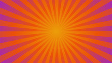 Sunburst Ray Vector Gradient Color Background - Halloween Theme