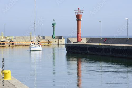 Foto op Plexiglas Poort Port w Łebie