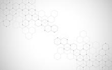 Vector Hexagons Pattern. Geome...