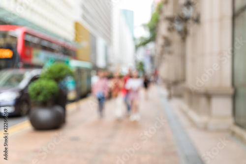 Bokeh view of city Fototapeta