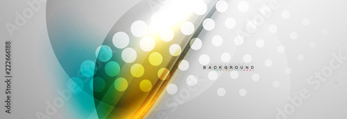 Smooth flowing wave motion concept background Wallpaper Mural