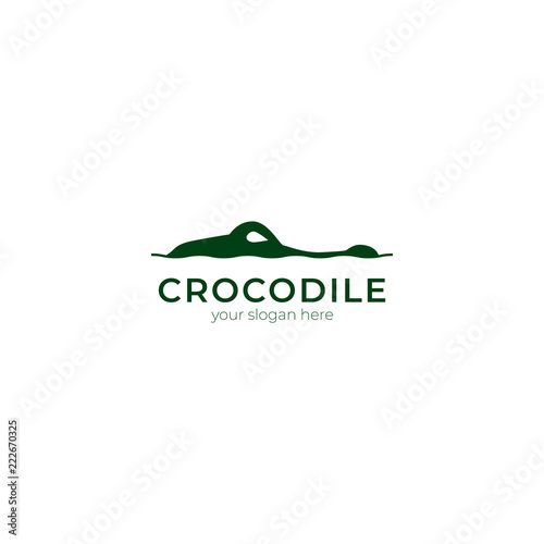 crocodile logo vector Wallpaper Mural