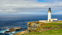 Lighthouse Powered With Solar Energy, Westray, Orkney Islands, Scotland