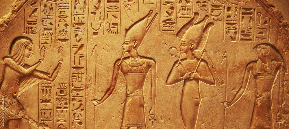 Fototapeta Ancient Egypt hieroglyphs