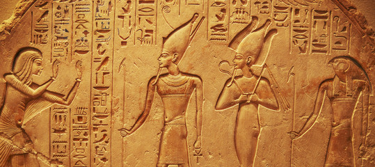 Ancient Egypt hieroglyphs