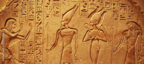 Foto op Canvas Egypte Ancient Egypt hieroglyphs