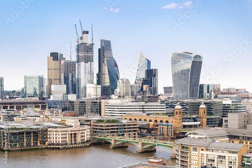 Keuken foto achterwand Stad gebouw London downtown with River Thames