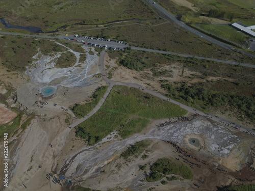 Staande foto Grijs Island - Vulkane und Landschaften aus der Vogelperspektive