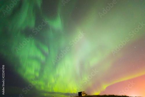 Foto auf Gartenposter Nordlicht The Northern Light Aurora borealis Iceland