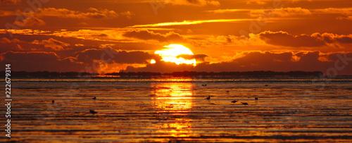 Photo Sonnenuntergang an der Nordsee