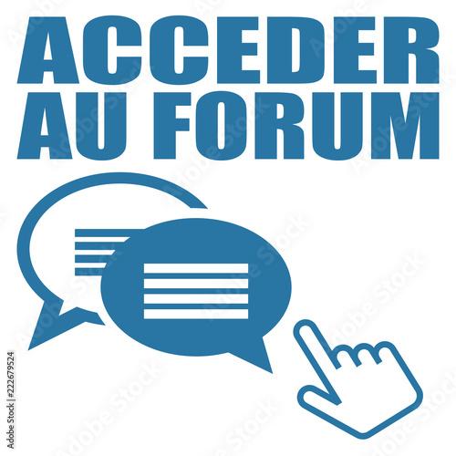 Fotografie, Obraz  Logo accéder au forum.