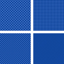 Simple Abstract Blue Striped Pattern Background Set
