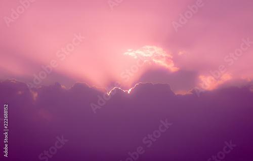 In de dag Candy roze Heaven in the sky